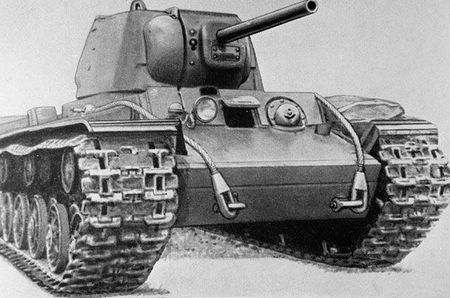 танк КВ-1, на котором служил Семён Коновалов