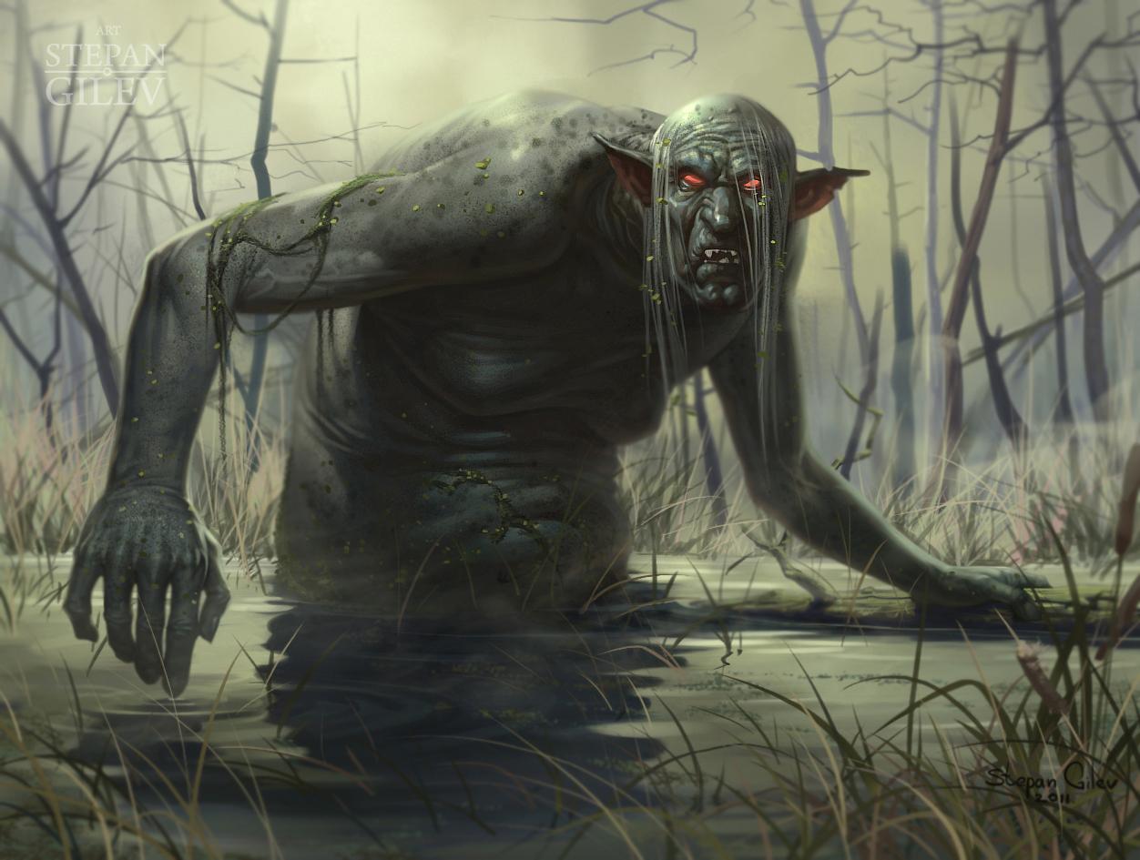 Картинка водяного в болоте